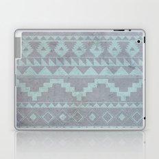 Mint & Gray pattern Laptop & iPad Skin