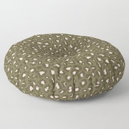 Leopard Print 2.0 - Olive Green Floor Pillow