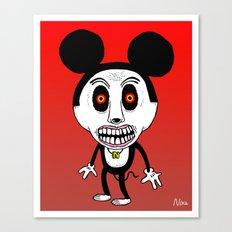 Weird Mickey Canvas Print
