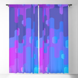 Purple Blue And Pink Liquid Type Abstract Design Blackout Curtain