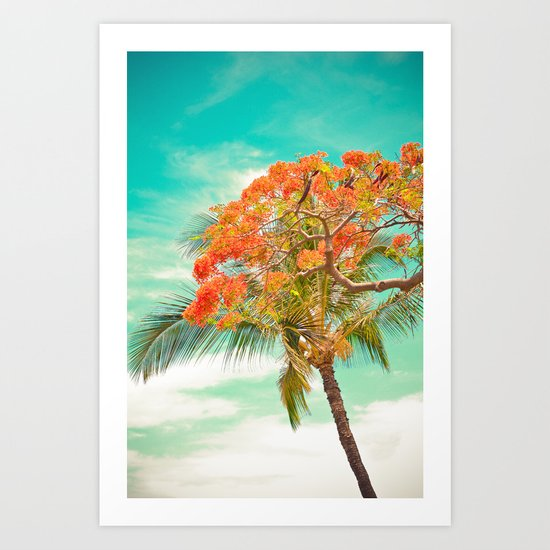 Summery Trees in Hawaii Art Print