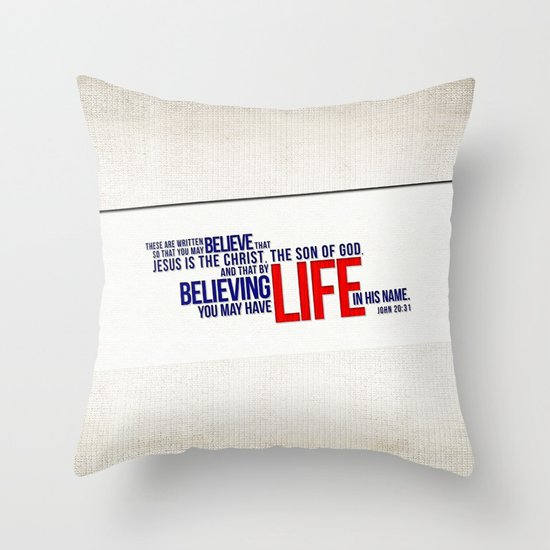 Life in His Name Throw Pillow