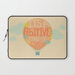 Positive Day Hot Air Balloon Digital Illustration Laptop Sleeve