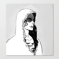 silent Canvas Prints featuring Silent by Cassandra Jean