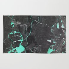 Grey and Blue Marble Rug