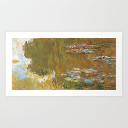 Monet, The Water Lily Pond 1917 Art Print