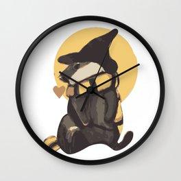 Magic cute Badger With Scarf Wall Clock