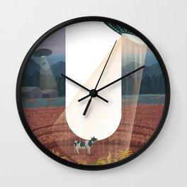 Letter U Illustration by Asia Orlando Wall Clock