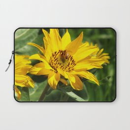 Yellow Flowering Bee picture Laptop Sleeve