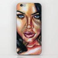 aaliyah iPhone & iPod Skins featuring Babygirl by moneechante