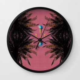 Where I am is always Summer Wall Clock