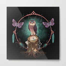 Enchanted Woodland Secret Keeper And Dream Catcher Metal Print