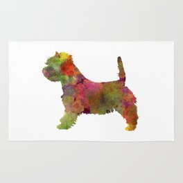 West Highland White Terrier in watercolor Rug