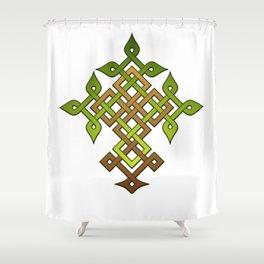Celtic knotwork Tree Shower Curtain