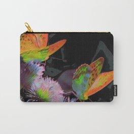 Orange Butterflies III Carry-All Pouch