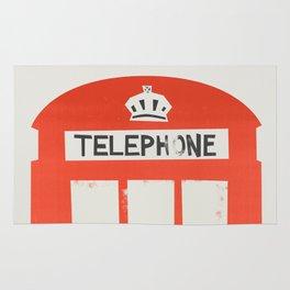 Red London Telephone Box Rug