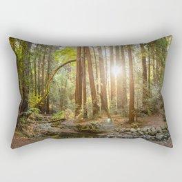 Morning Sun at Muir Woods Rectangular Pillow