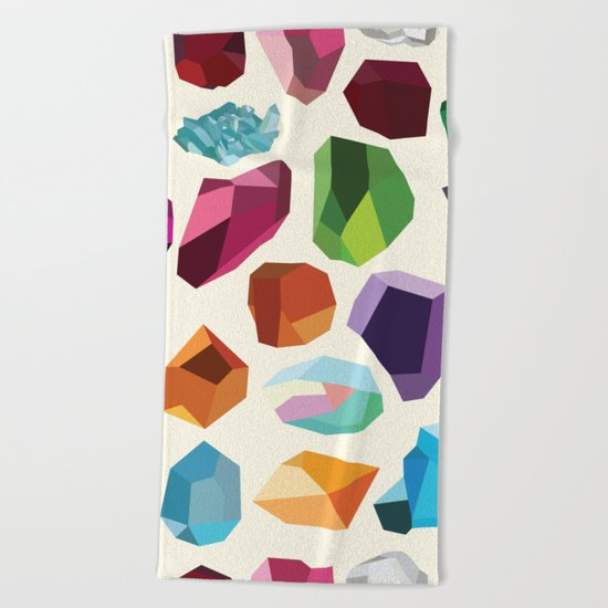Gemstones Beach Towel