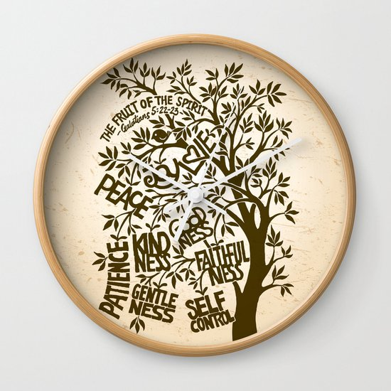 The Fruit of the Spirit (I) Wall Clock