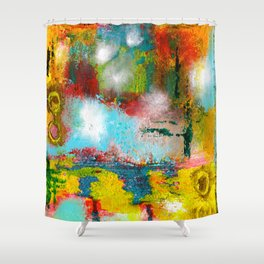Mystery Wall Shower Curtain