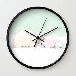 Cozy seals Wall Clock