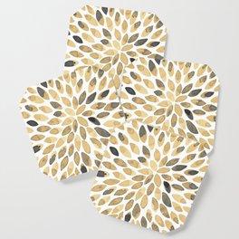 Watercolor brush strokes - neutral Coaster