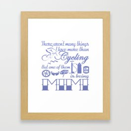 Cycling Mimi Framed Art Print