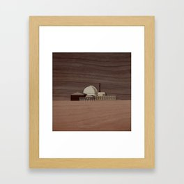 Douneray Nuclear Facility | Marquetry Framed Art Print