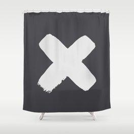 An X Shower Curtain