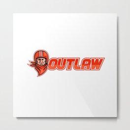 Motorcycle Biker Outlaw Retro Metal Print