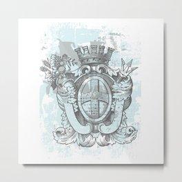 Heraldic Grunge Metal Print