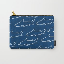 Navy Shark Under the Sea Carry-All Pouch