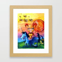 The Candy Warrior Framed Art Print