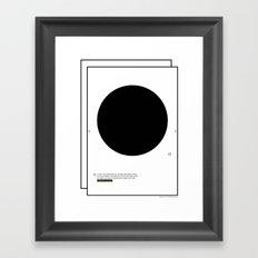 Geometric - Kreis . (Spanish) Framed Art Print