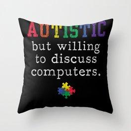 Autism Awareness Computer engineer Autistic Kids Throw Pillow