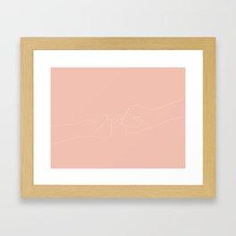 promesse Framed Art Print