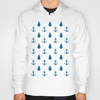 anchors Hoodies featuring Raining Anchors by The Venerate Empire
