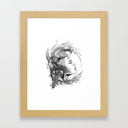 BikerChick Framed Art Print