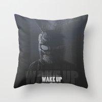 donnie darko Throw Pillows featuring Donnie Darko by justjeff