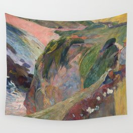 The Flageolet Player on the Cliff by Paul Gauguin Wall Tapestry