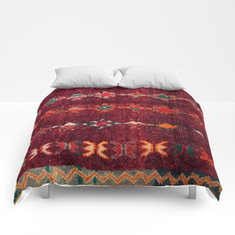 -A8- Colored Traditional Moroccan Carpet Artwork. Comforters