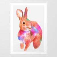 rabbit 1/3 (2016) Art Print