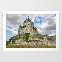Medieval Castle on a Hill Art Print