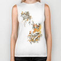 duvet Biker Tanks featuring fox in foliage by Teagan White