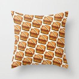 Turkey Club on White Throw Pillow