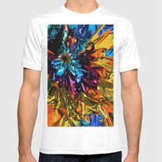 A Little Splash of Color MEDIUM White Mens Fitted Tee
