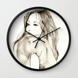 A portrait 1 Wall Clock