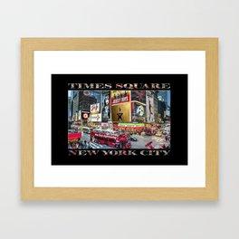 Times Square II (widescreen on black) Framed Art Print