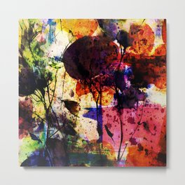 bold abstract with flowers Metal Print