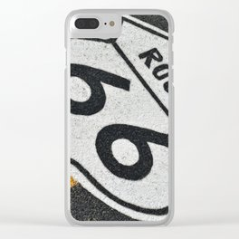 Route 66 sign. Clear iPhone Case